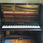 mason and hamlin upright piano with front removed